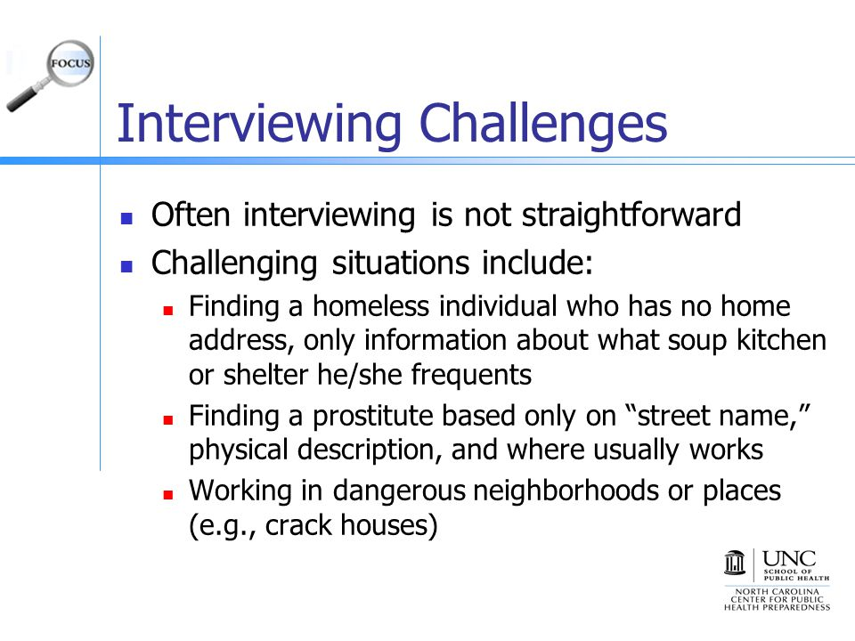 Interviewing Challenges