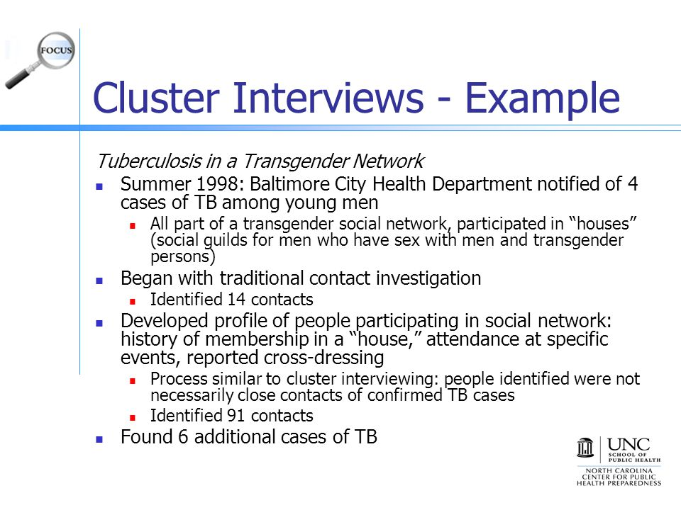 Cluster Interviews - Example