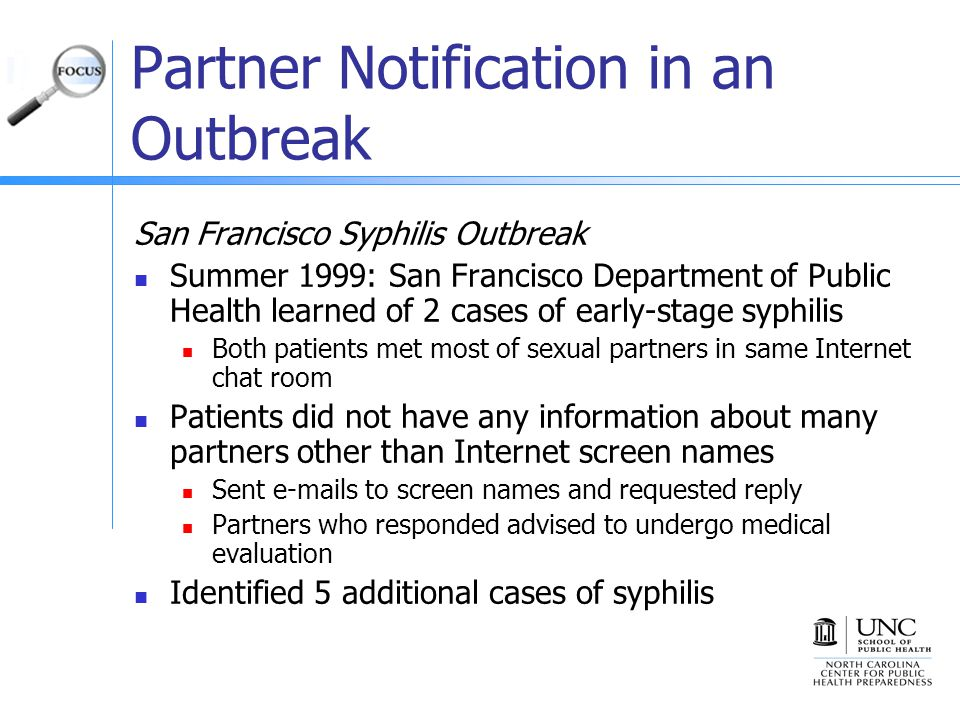 Partner Notification in an Outbreak