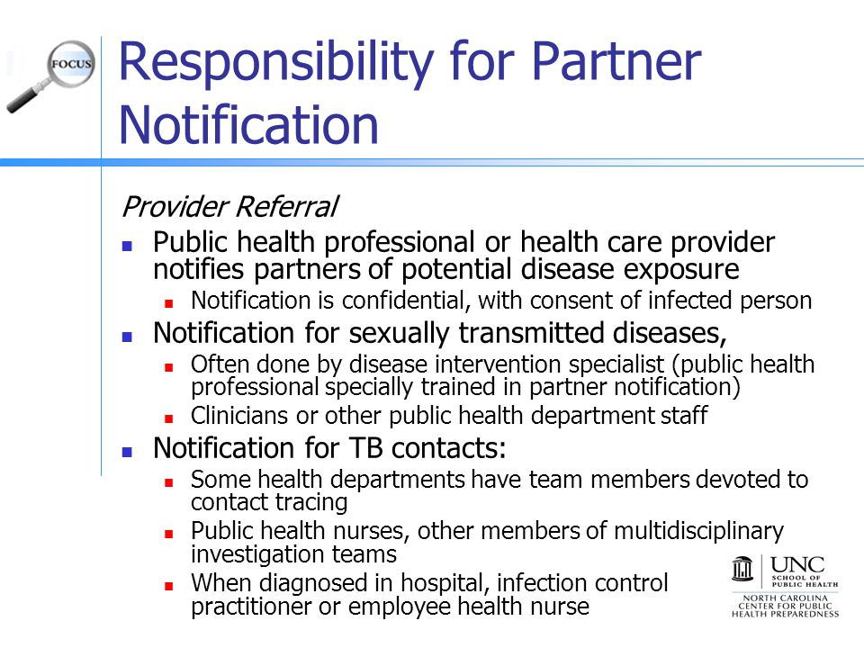 Responsibility for Partner Notification
