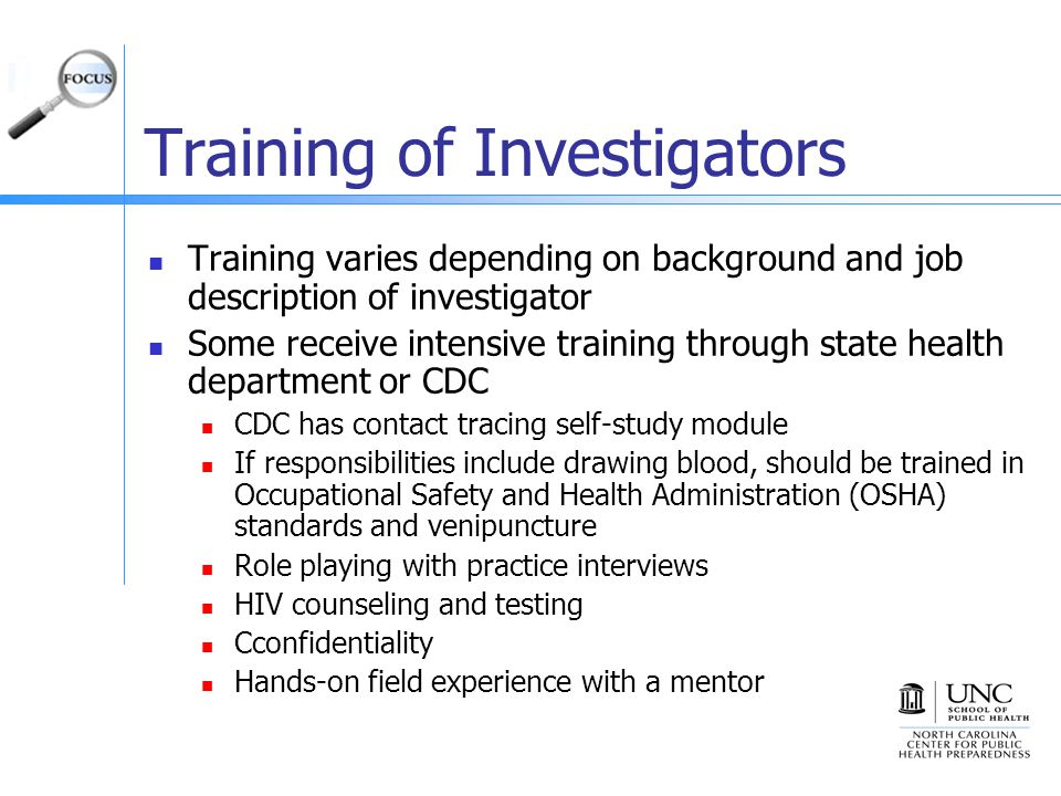 Training of Investigators