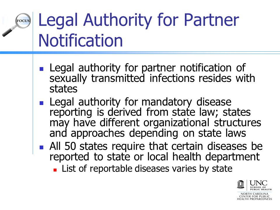 Legal Authority for Partner Notification