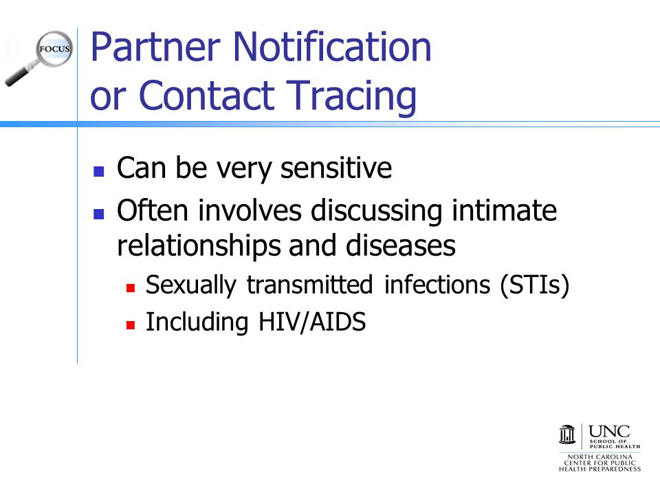 Partner Notification or Contact Tracing