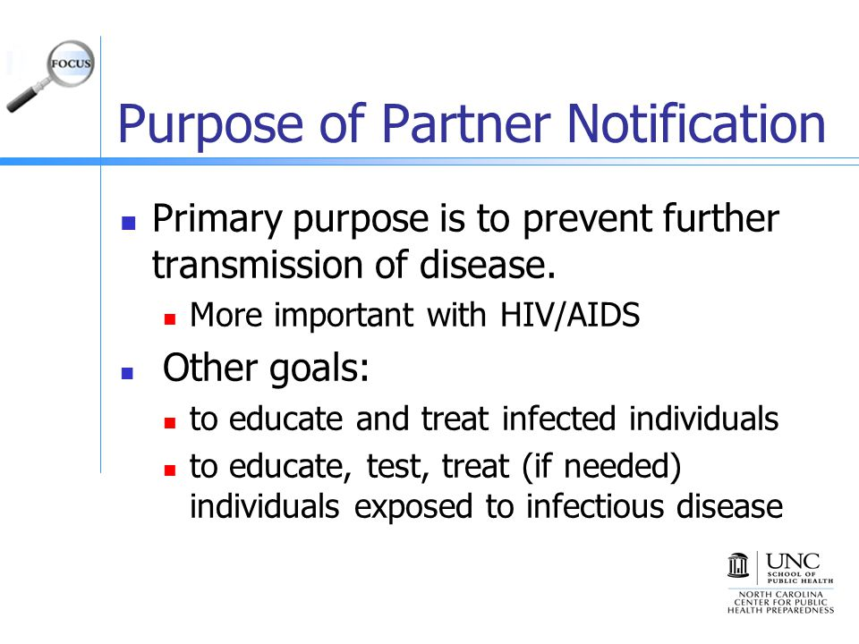 Purpose of Partner Notification