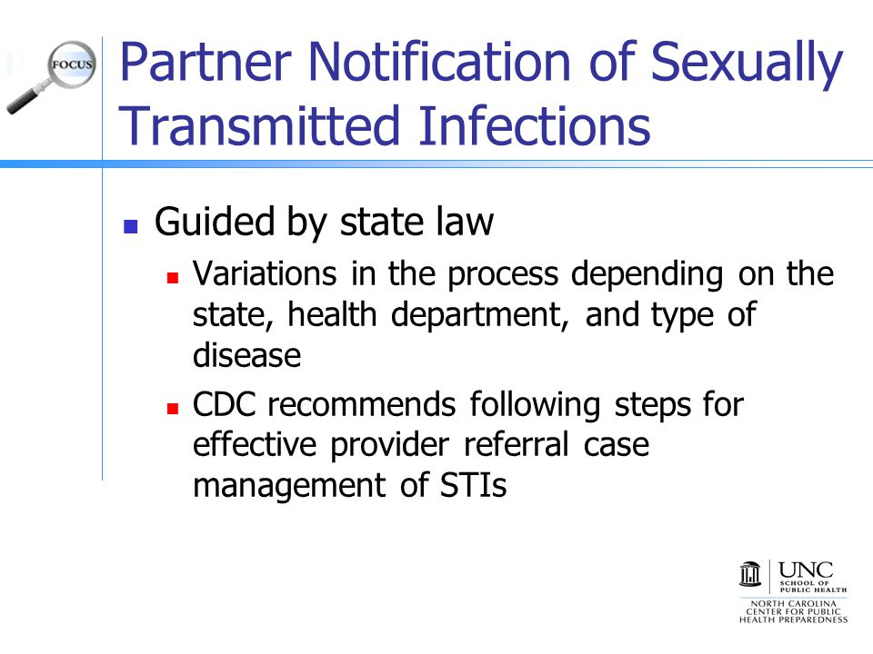 Partner Notification of Sexually Transmitted Infections