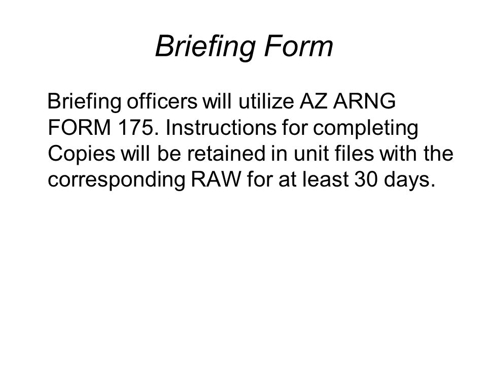 Briefing Form
