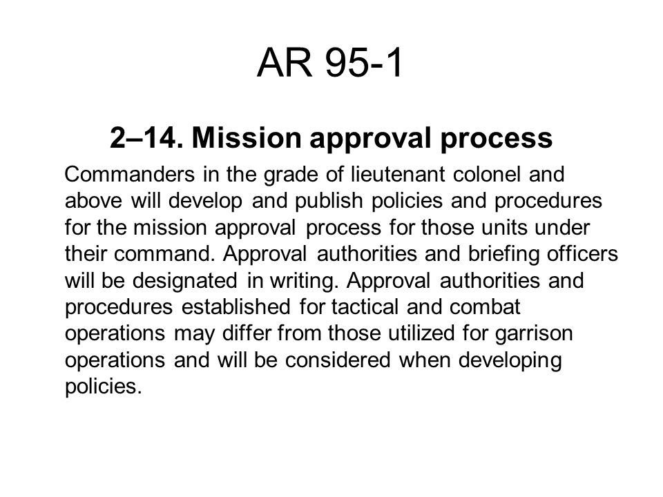 2–14. Mission approval process