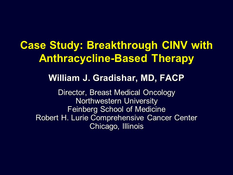 Case Study: Breakthrough CINV with Anthracycline-Based Therapy