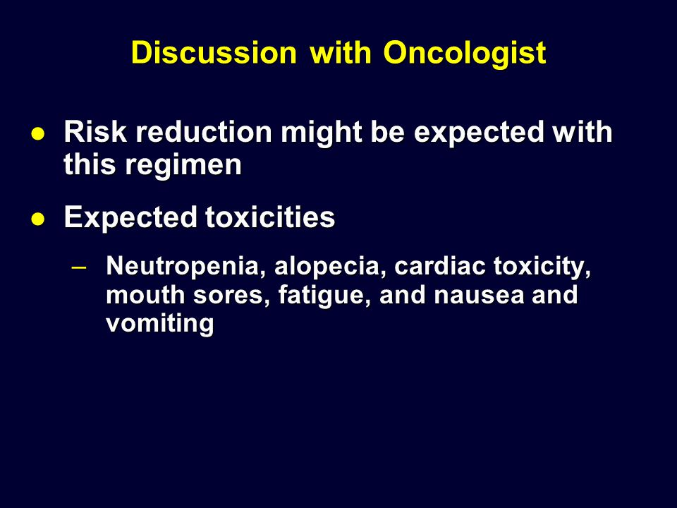 Discussion with Oncologist