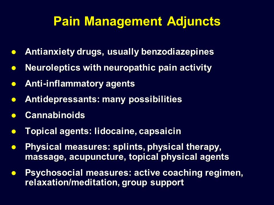 Pain Management Adjuncts