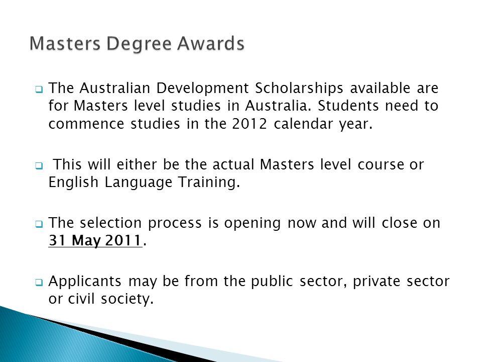 Masters Degree Awards