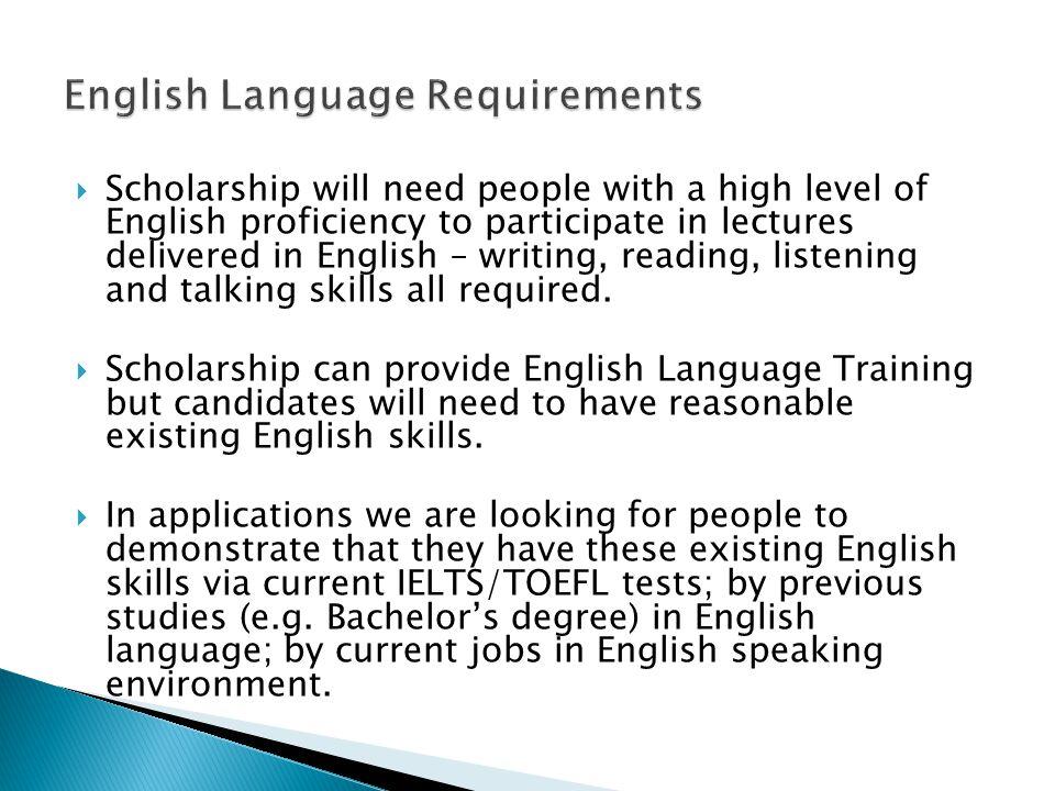 English Language Requirements