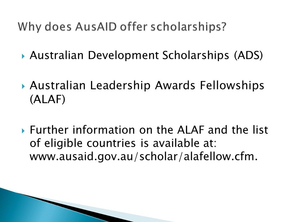 Why does AusAID offer scholarships