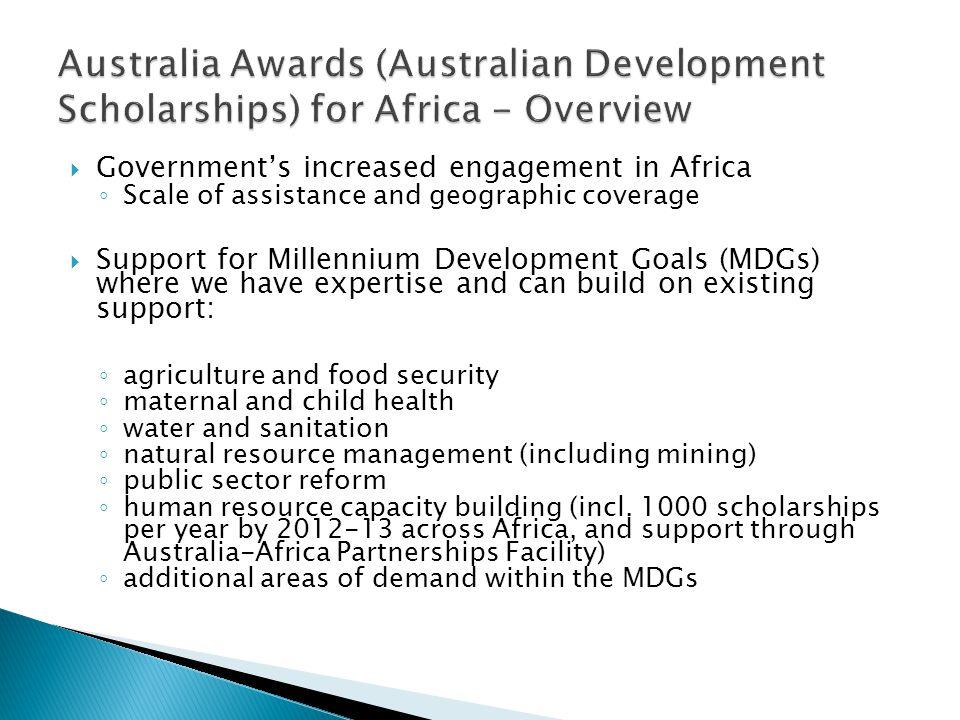 Australia Awards (Australian Development Scholarships) for Africa - Overview