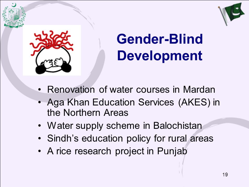 Gender-Blind Development
