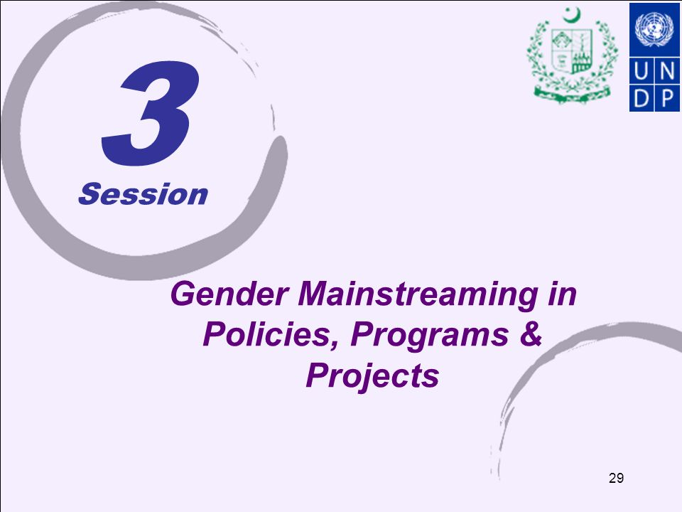 Gender Mainstreaming in Policies, Programs & Projects