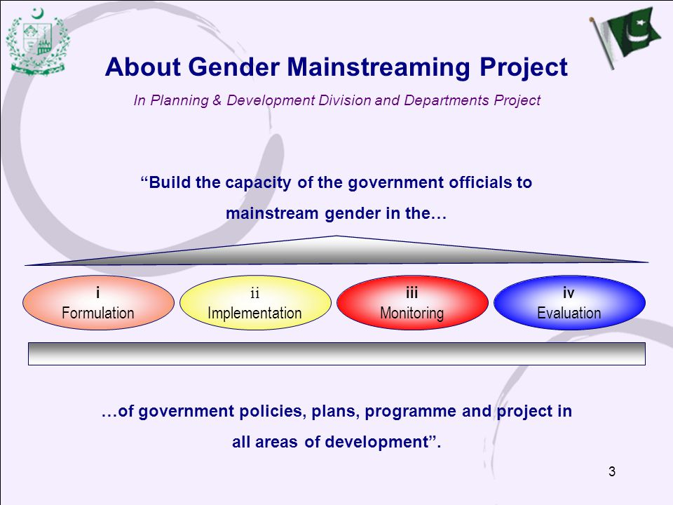 About Gender Mainstreaming Project