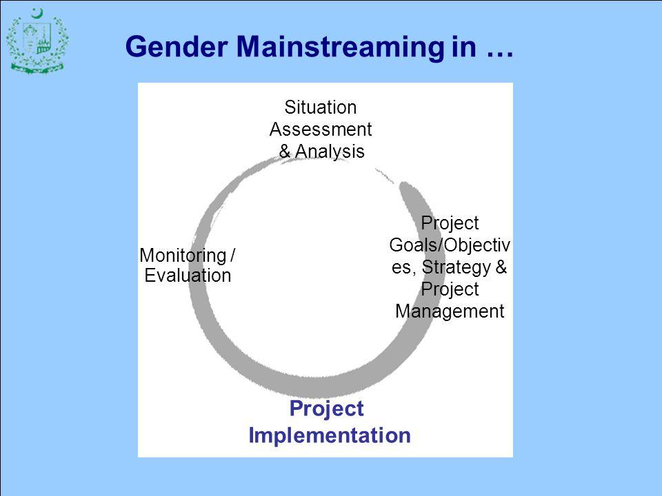 Gender Mainstreaming in …