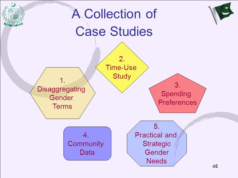 A Collection of Case Studies 2. Time-Use Study 1. Disaggregating 3.