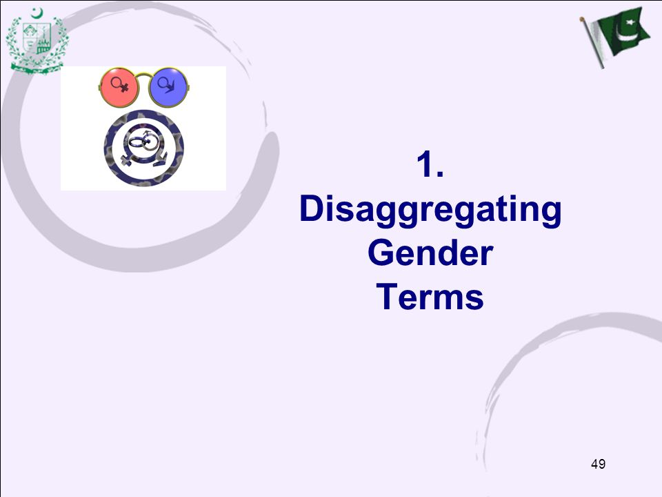 1. Disaggregating Gender Terms