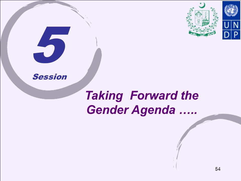 Taking Forward the Gender Agenda …..