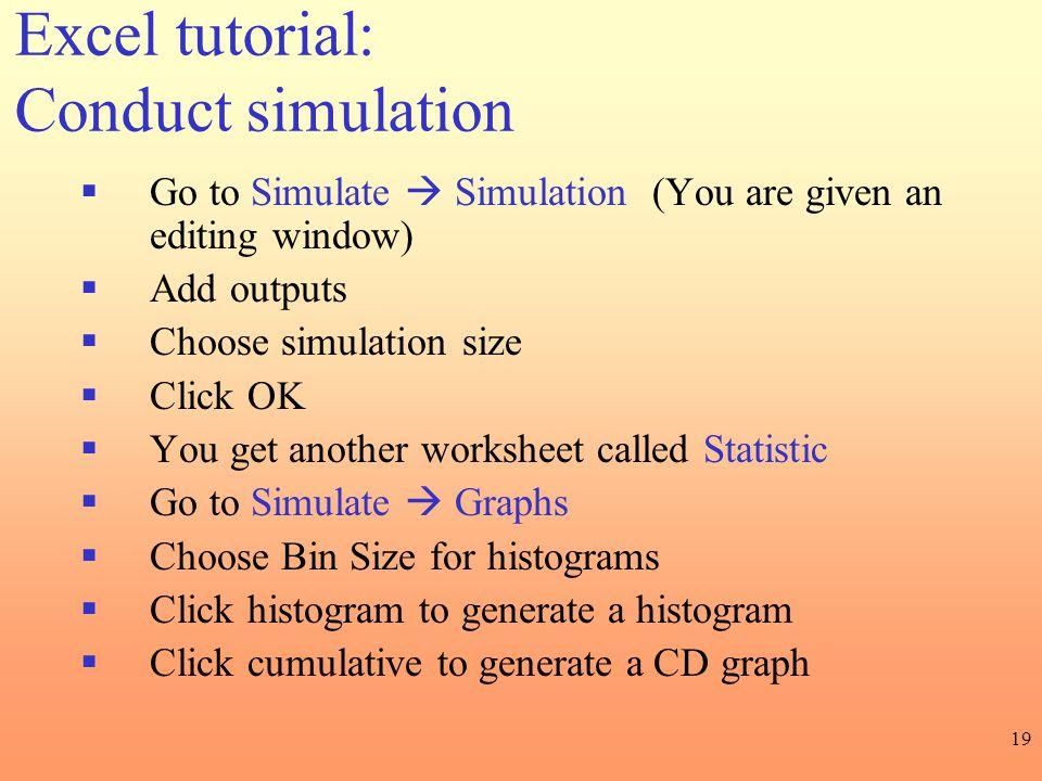 Excel tutorial: Conduct simulation