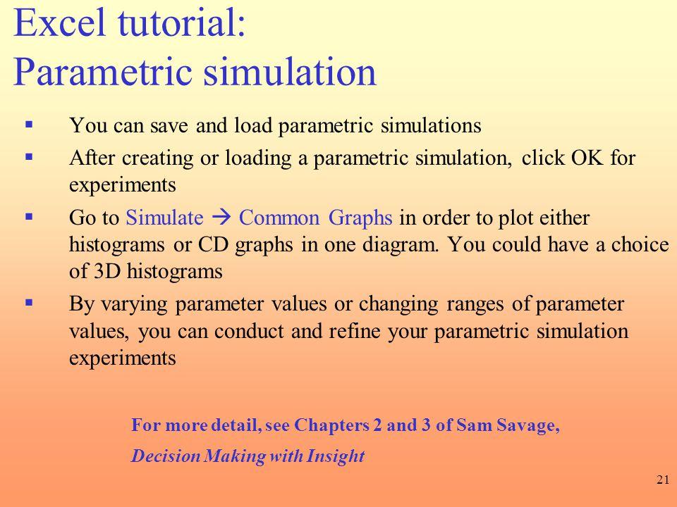 Excel tutorial: Parametric simulation
