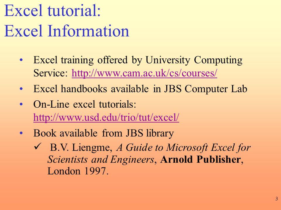 Excel tutorial: Excel Information