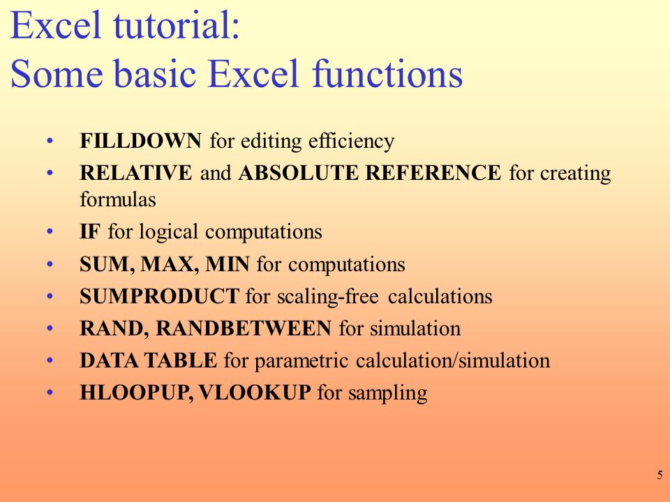 Excel tutorial: Some basic Excel functions