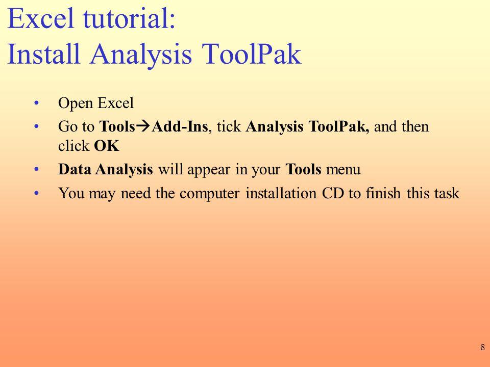 Excel tutorial: Install Analysis ToolPak