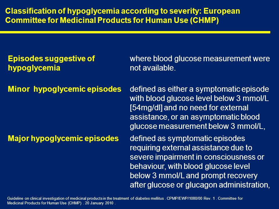 Episodes suggestive of hypoglycemia