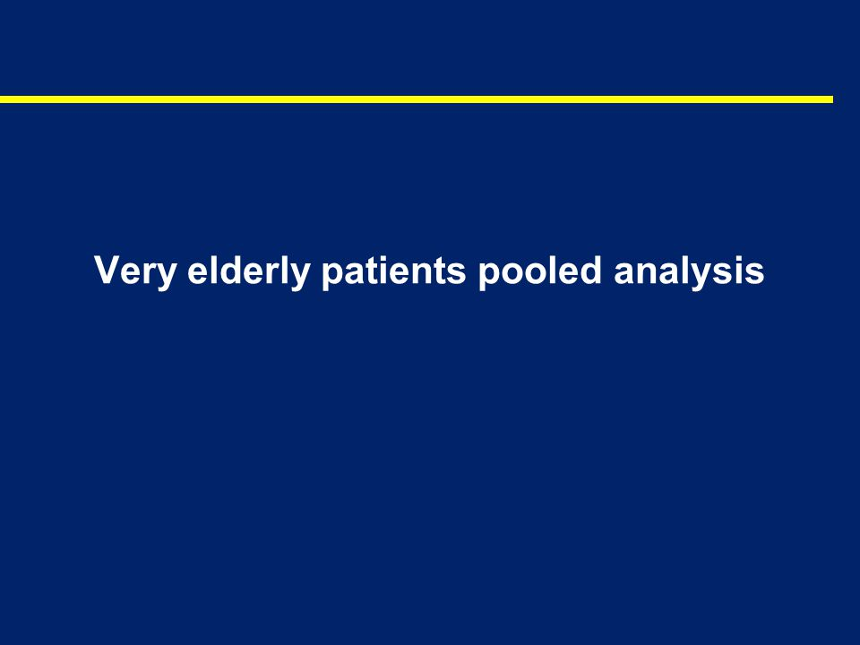 Very elderly patients pooled analysis
