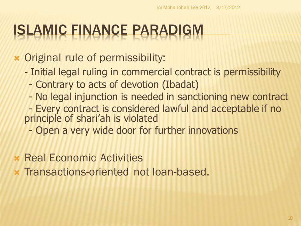 Islamic Finance Paradigm