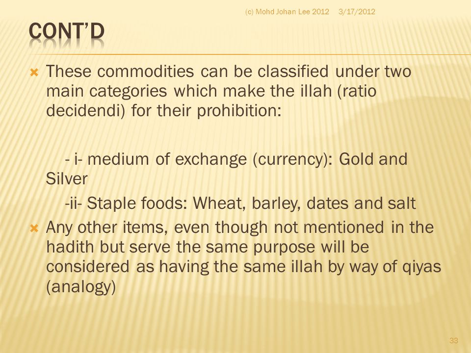 Cont'd (c) Mohd Johan Lee 2012. 3/17/2012.