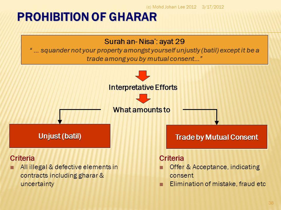 Interpretative Efforts Trade by Mutual Consent