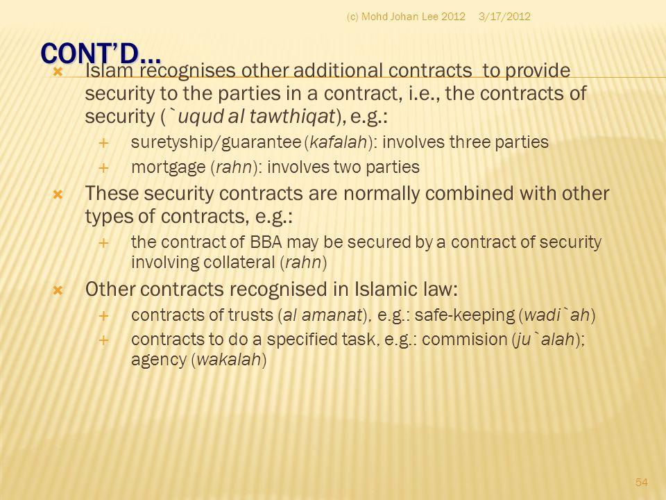 (c) Mohd Johan Lee 2012 3/17/2012. CONT'D…
