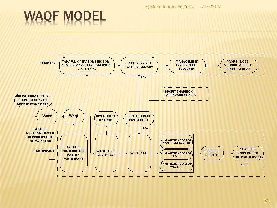 Waqf Model (c) Mohd Johan Lee 2012 3/17/2012