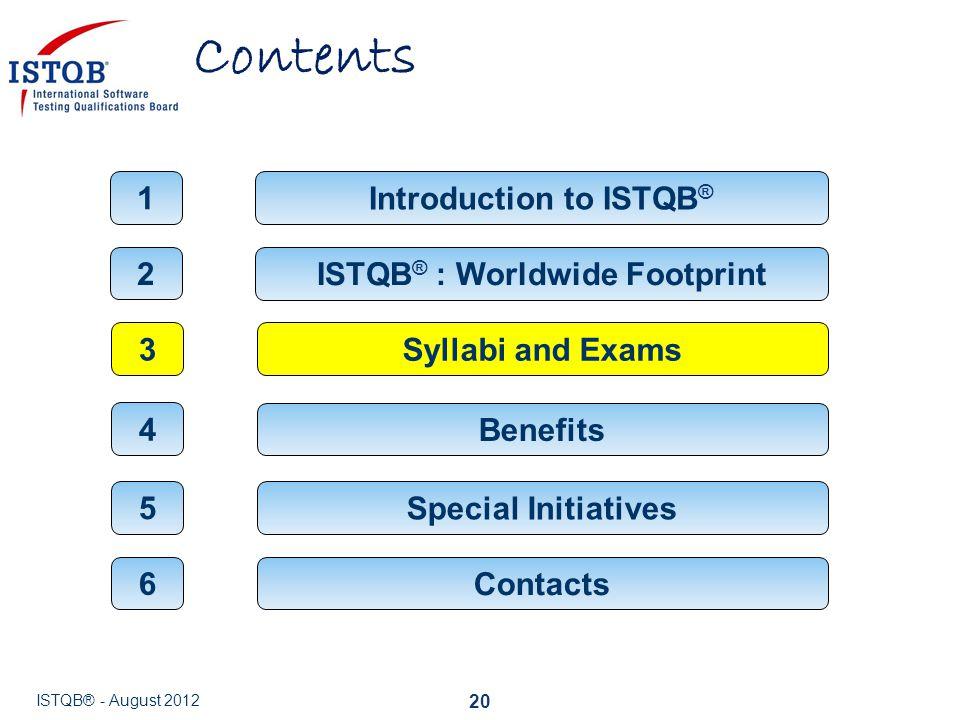 Introduction to ISTQB® ISTQB® : Worldwide Footprint