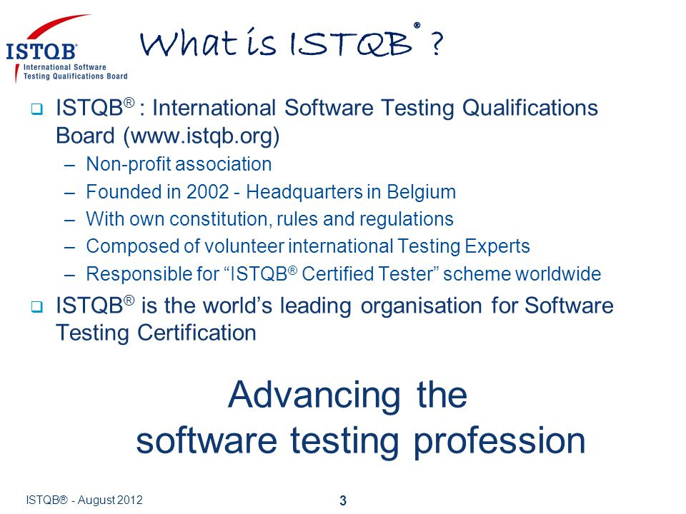 Advancing the software testing profession