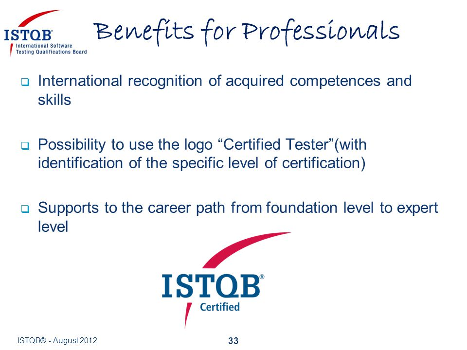 Benefits for Professionals