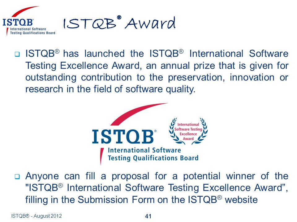 ISTQB® Award