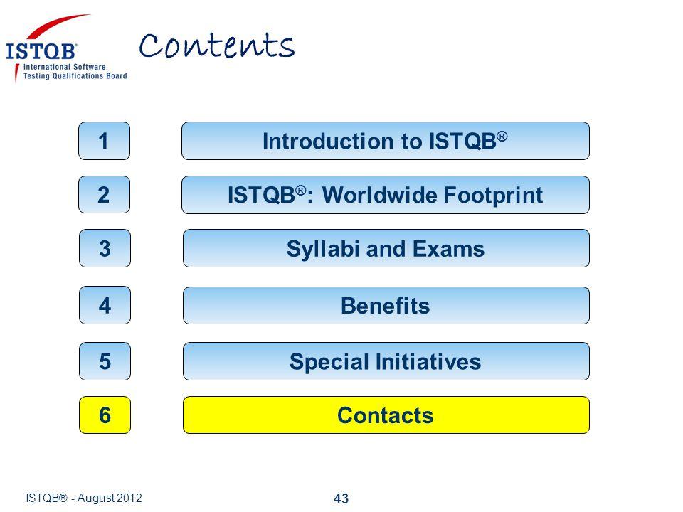 Introduction to ISTQB® ISTQB®: Worldwide Footprint
