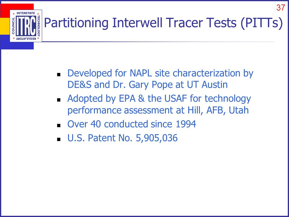 Partitioning Tracer Test with DNAPL