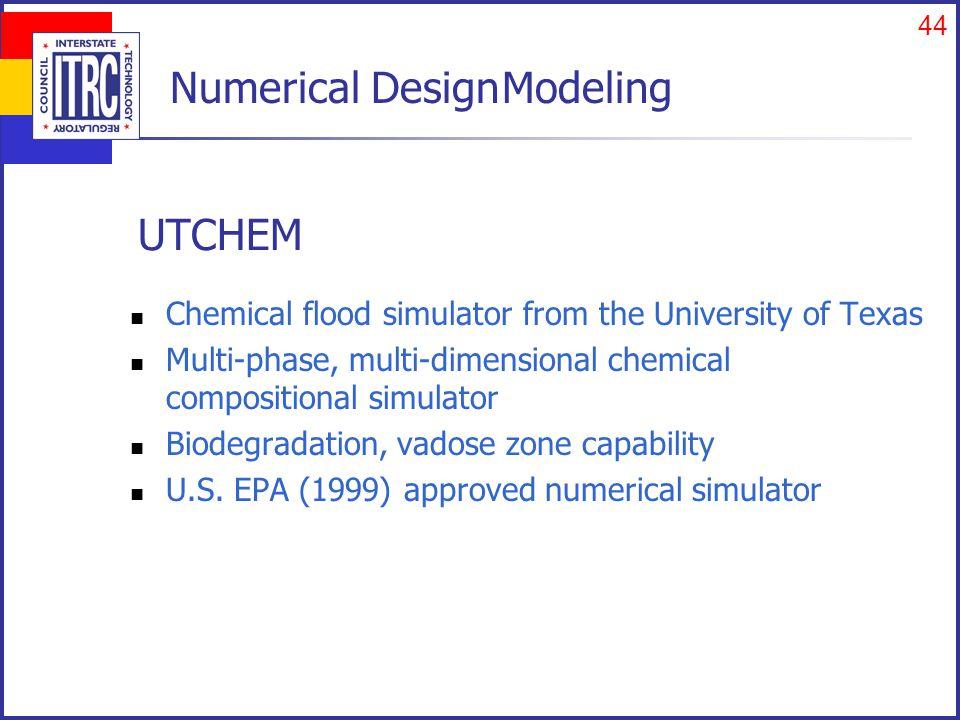 Calibrated UTCHEM Design Model