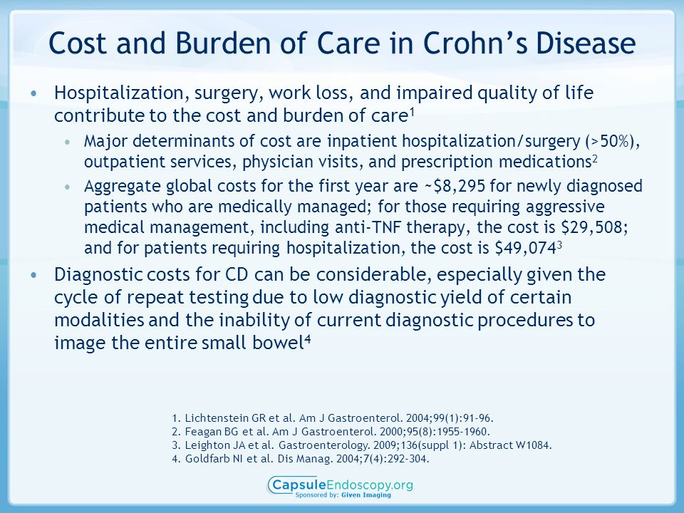Cost and Burden of Care in Crohn's Disease
