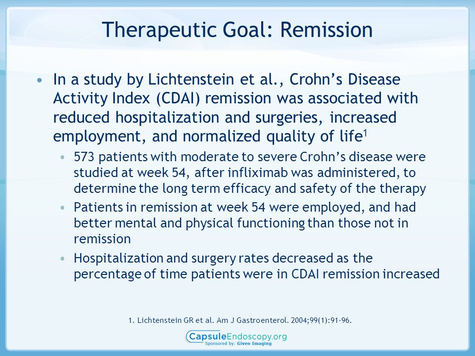 Therapeutic Goal: Remission