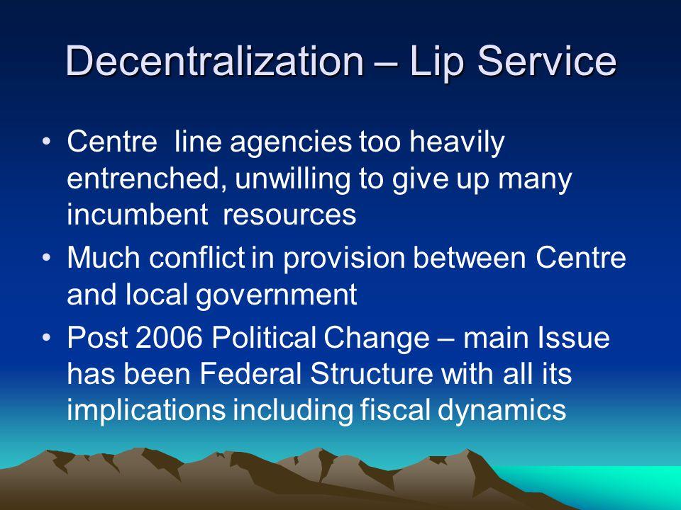 Decentralization – Lip Service