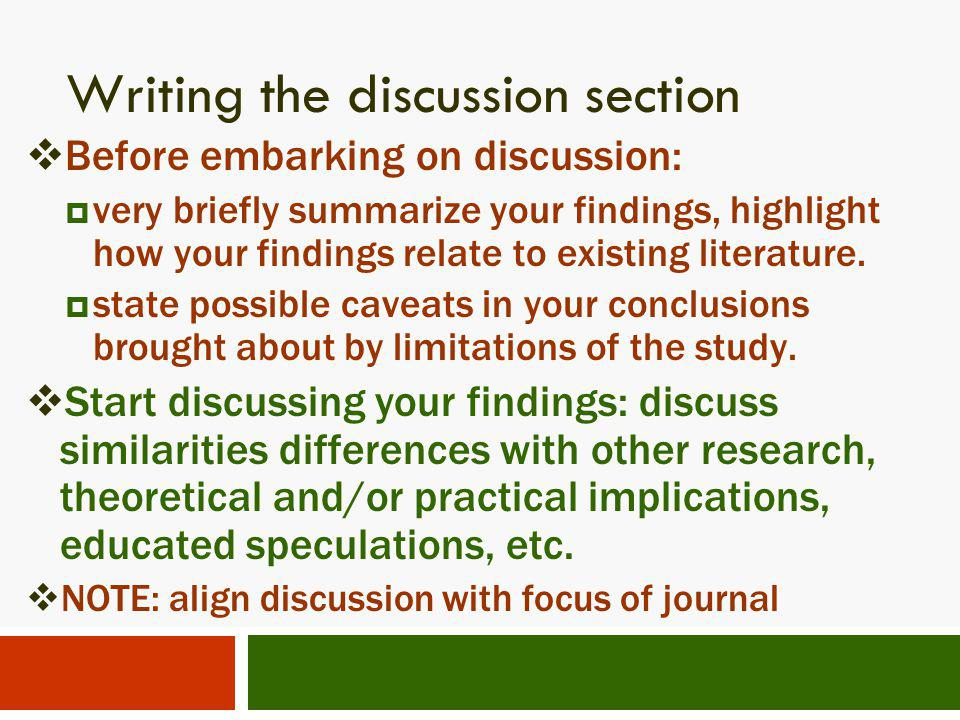 writing dissertation discussion section