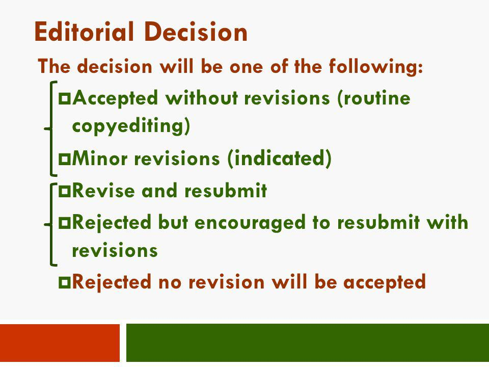 Editorial Decision Accepted without revisions (routine copyediting)
