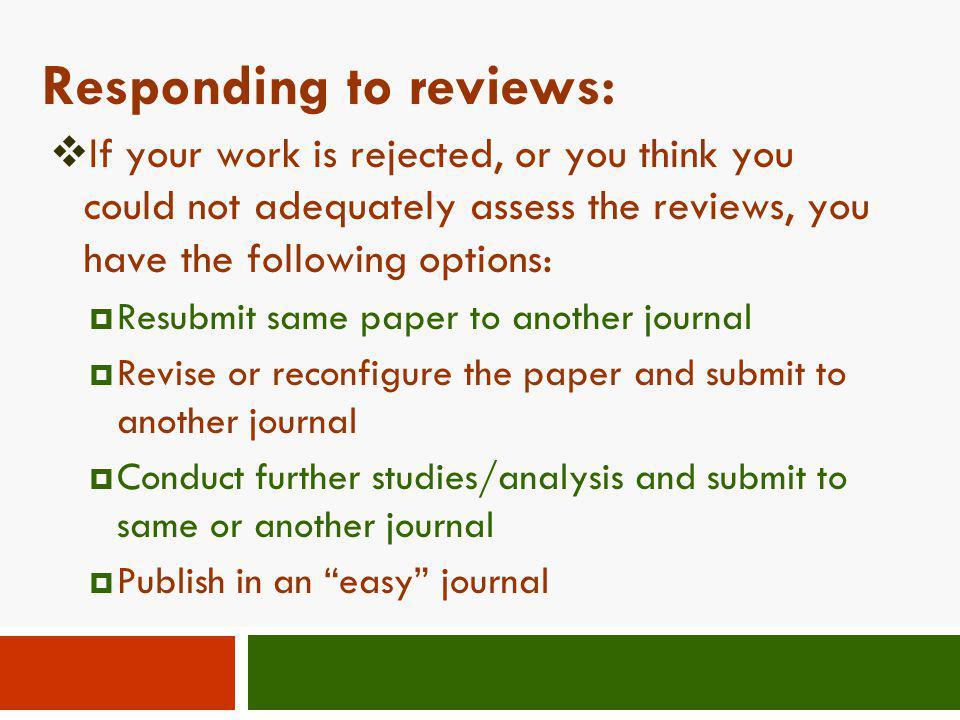 Responding to reviews: